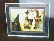 Transparent Contemporary Photo Frames , Supermarket Acrylic Holder Display