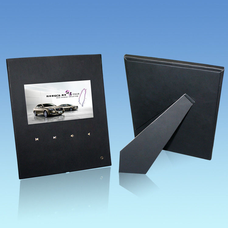USB TFT 7 Inch Black Custom Video Greeting Cards With XP / Vista / Windows 7 System